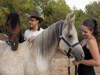 与马和开胃菜的自然比赛在曼雷萨