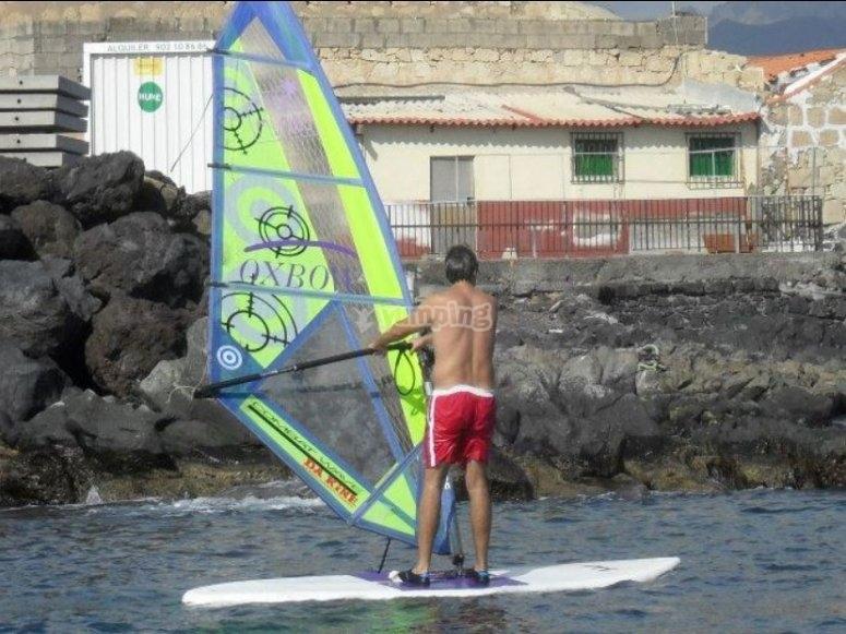 Windsurf en la costa canaria