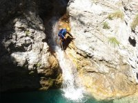 Passing the waterfall