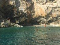 Banandose en el mar de Alboran