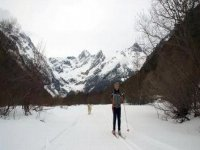 Enjoy the cross-country skiing