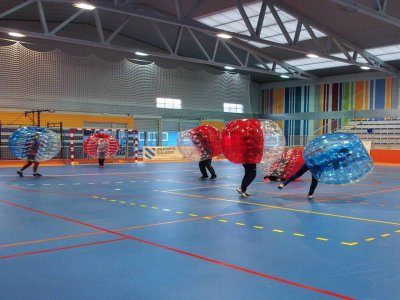 Bubble football game at A Coruña, 1h