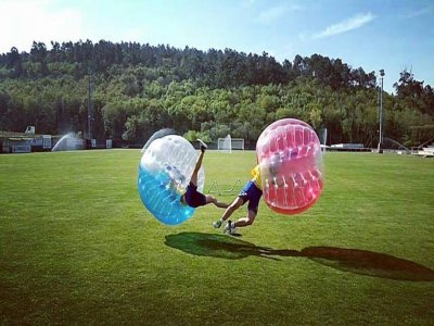 Bubble football game at A Coruña, 2h
