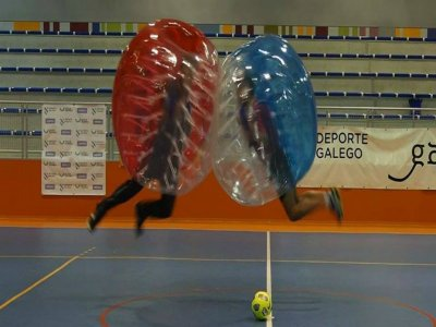 Bubble football game at A Coruña, 3h