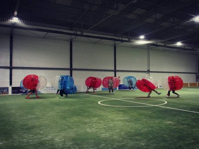 Bubble football for schools at A Coruña, 3h