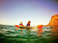 kayak transparente en pareja
