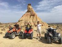 en pleno desierto