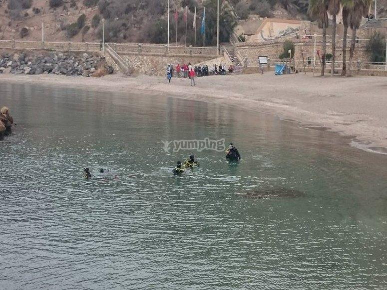 inmersiones desde la costa