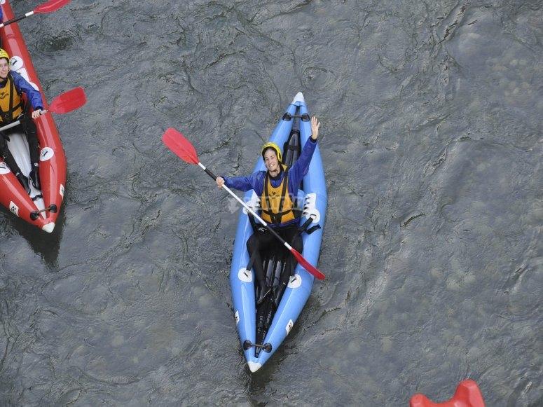 Individual kayak in Huesca