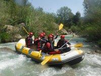 Saludando desde el raft