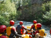 Descenso del caudal en rafting