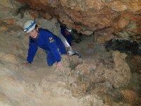 Progresando por la gruta