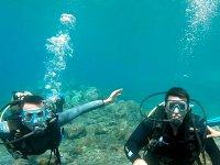 Bautismo de buceo en Las Caletillas piscina y mar