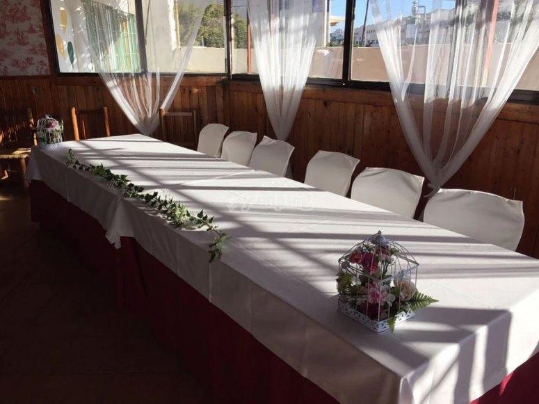 Mesa para el banquete