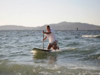 navigating on your knees on a sup board