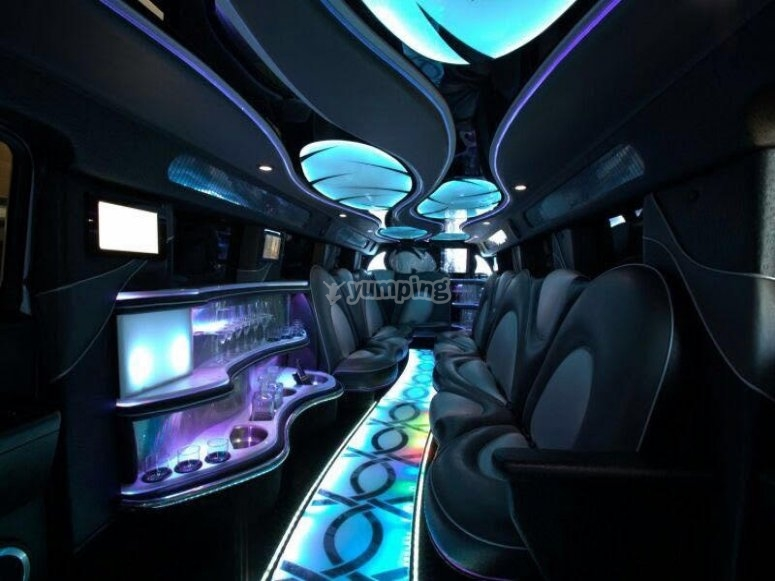 Interior de la limusina