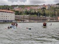 Paddle surf gigante en rio