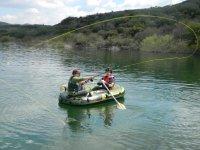 Pescando desde bote