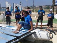 windsurfing course among young people