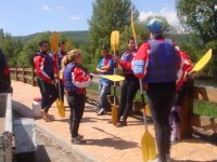 Holding the oars