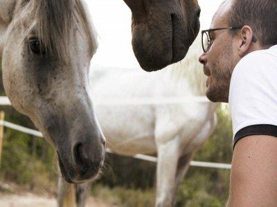 Actividad privada en familia con caballos Manresa