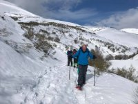 Ascent with snowshoes