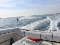 Haciendo wake desde el barco