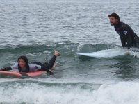 En el agua con el profe de surf