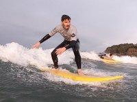 Surfeando en Oleiros