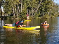 Paddle surf nel fiume