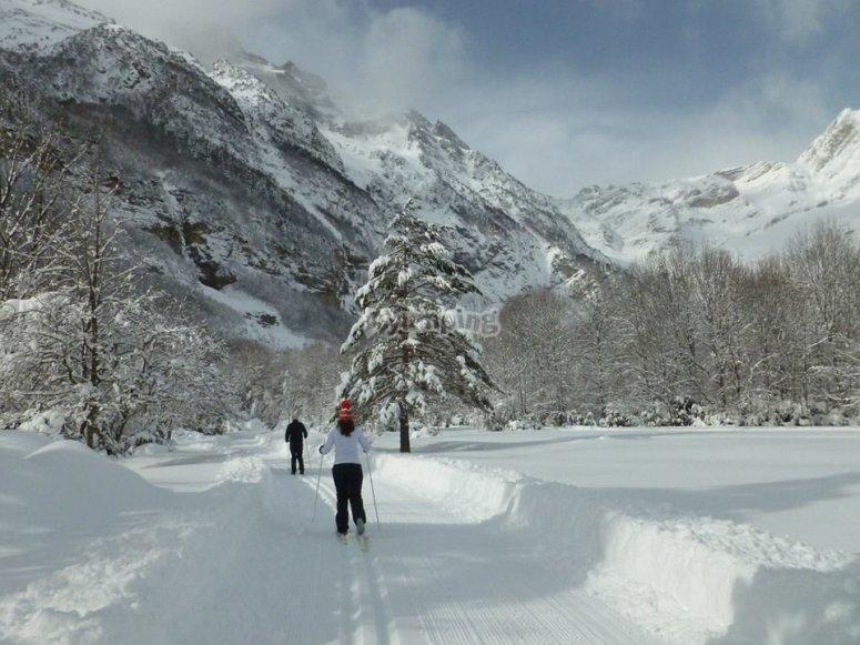 Caminar con raquetas de nieve