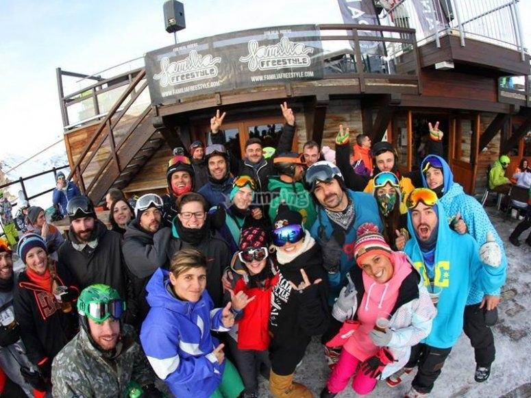 Participantes en la escapada de nieve