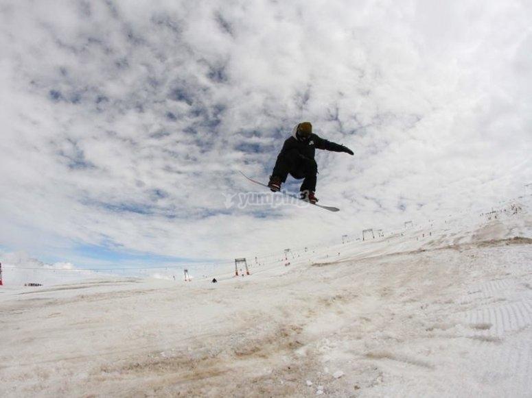 Viviendo el snowboard
