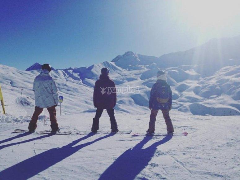 Disfrutando de los deportes de nieve