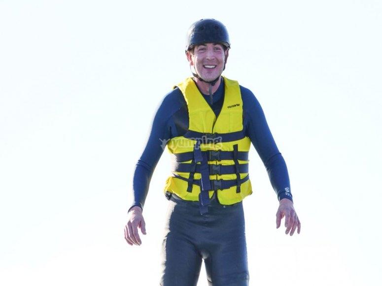 Casco y chaleco para flyboard
