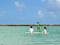 Practicando el paddle surf