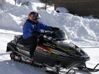 Montgarri的单独雪地摩托车路线14公里