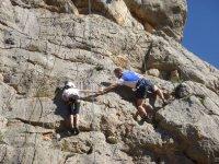 Practicando sobre roca