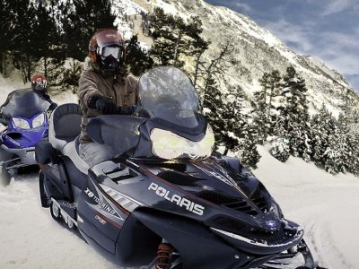 Ruta moto de nieve Parque Nacional Aigüestortes