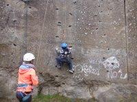 Aprendiendo a escalar sobre roca