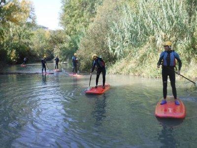 在Tolosa水库划桨冲浪路线2小时