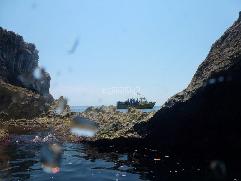 梅诺卡岛的沿海风景