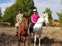 Horse riding route, free class, Villamarxant