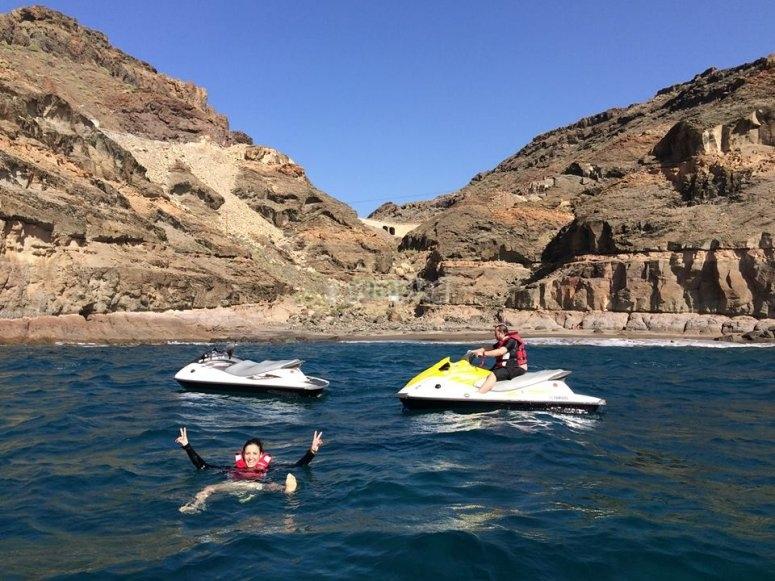 Motos acuaticas en Gran Canaria
