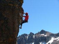 Escalando la roca