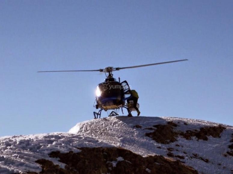 Vielha直升机飞行