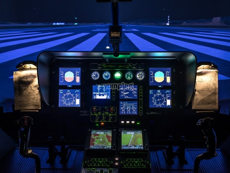 Helicopter simulator controls