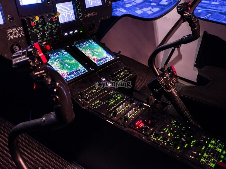 Helicopter simulator in Sabadell