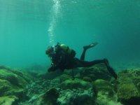 contempla el fondo marino