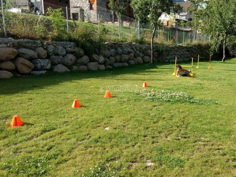 Gymkana en la hierba